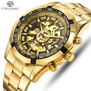 Image 1 - FORSINING Men Fashion Skeleton Mechanical Watch Casual Sport Waterproof Mens Classic Business Wristwatch Relogio Masculino