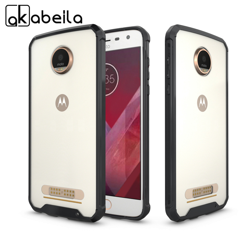 AKABEILA Mobile Phone Case For Motorola Moto Z2 Play Cases XT1710-01 XT1710-07 Motorola Z Play 2nd Gen Transparent Acrylic Cover