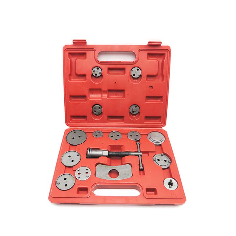 16-Piece Universal Front Rear Caliper Disc Brake Screw-In Wind Back Rewind Piston Compression Tool Kit Set 2 pair universal car 3d style disc brake caliper covers front rear