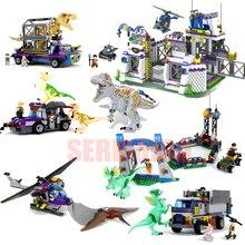 Jurassic Dinosaur World Figures Tyrannosaurs Rex Building Blocks Sermoido Toys For Children