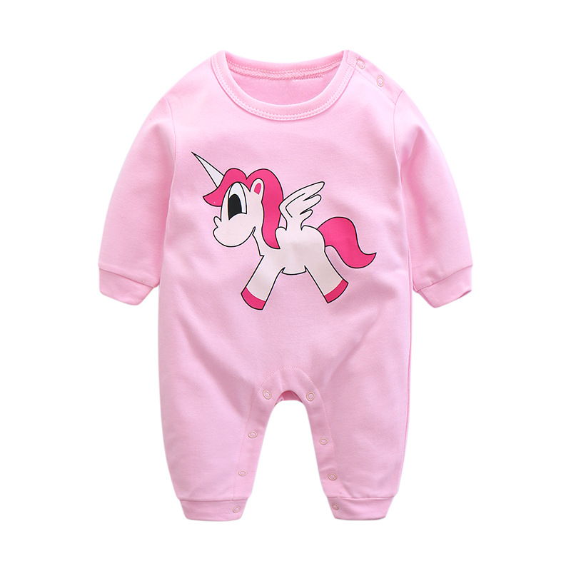 Baby Unicorn Rompers Autumn Girl Clothes 2017 Baby Boys One Piece Fashion Newborn Clothes Infant Jumpsuit Kids Cartoon Clothes 2016 autumn newborn baby rompers fashion cotton infant jumpsuit long sleeve girl boys rompers costumes baby clothes