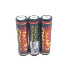 5pcs/lot TrustFire 18650 3.7V 12.6Wh 3400mAh Lithium Battery Rechargeable Batteries with PCB Protection For LED Flashlights Bicycle Headlamps