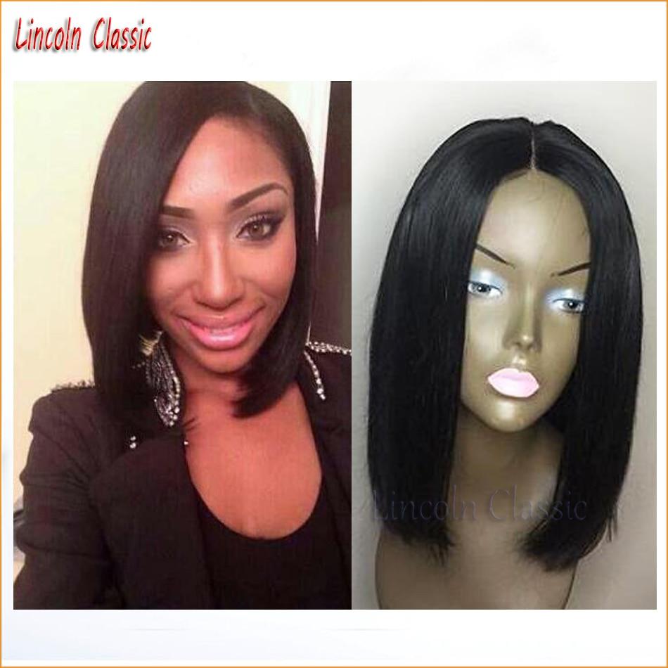NEW Human font b Hair b font Bob Cut Wigs Virgin Peruvian Full Lace Bob Wigs