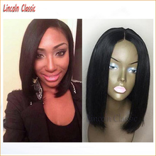 NEW Human Hair Bob Cut Wigs Virgin Peruvian Full Lace  Bob Wigs Glueless Lace Front Human Hair Wig Bob Style Natural Hairline