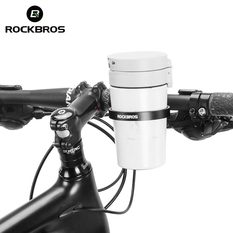 ROCKBROS-guidon de vélo de route, guidon multidirectionnel pour les déplacements support de verre, en alliage daluminium porte-bouteille