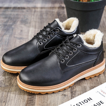 Top Quality Men Snow Boots 2019 Winter PU Leather Handmade Brand