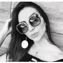FEISHINI Festival UV400 GOLD Gradient Square Sunglasses Ladies Mirror NEW Fashion High Quality Anti-Reflective Women Glasses