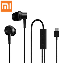 Original XIAOMI Mi Noise-canceling Earphone USB Type-C Earbuds Earpods Mic Noise Canceling Earphones for Xiaomi