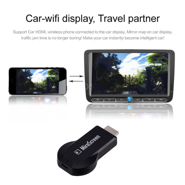 חדש MiraScreen טלוויזיה מקל Dongle Anycast Crome יצוק HDM 1080 p WiFi תצוגת מקלט Miracast Chromecast מחשב אנדרואיד טלוויזיה