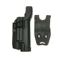Free Shipping Military Tactical Hunting Airsoft LV3 Glock Gun Belt Holster With Flashlight Fit For Colt 1911 Gun Holster