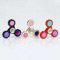 Fidget Spinner Starss EDC Tri Bar Hand Spinner Toy Finger Spin Brass Made Focus Toy Spinning