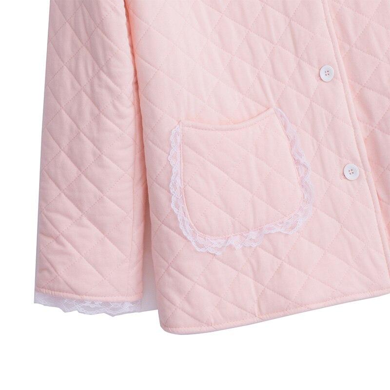 2019 Winter Neue Baumwolle Frau Pyjamas Zwei Stück Lange Sleeve Prinzessin Spitze Nachtwäsche Weibliche Verdicken Warm Halten Pyjama sets DS1007 - 4