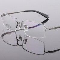 Cubojue 150mm Titanium Glasse Frame Men Semi Rimless Eyeglasses Man Prescription Spectacles Wide Face Optic Points
