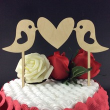 SD-483 Free Shipping lover birds Cake Toppers for Lover's Wedding Personalized Party Favors
