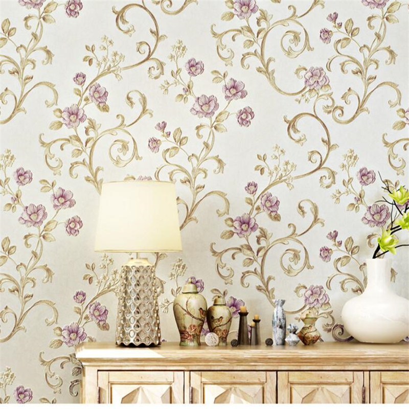 beibehang envir of the American pastoral flowers AB version of non - woven wallpaper bedroom living room TV background wallpaper beibehang american pastoral three dimensional small tree non woven wallpaper living room tv sofa background bedroom bedside