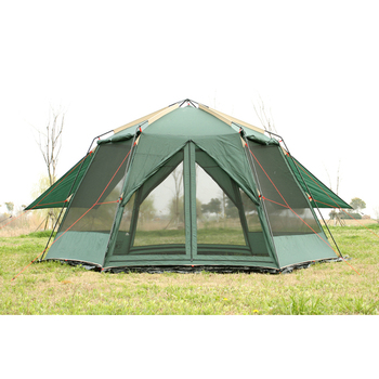 Подлинная УФ шестиугольная наружная пляжная двухслойная тентовая палатка с шестигранным хардкор Рыболовная Палатка Большой Космический С...