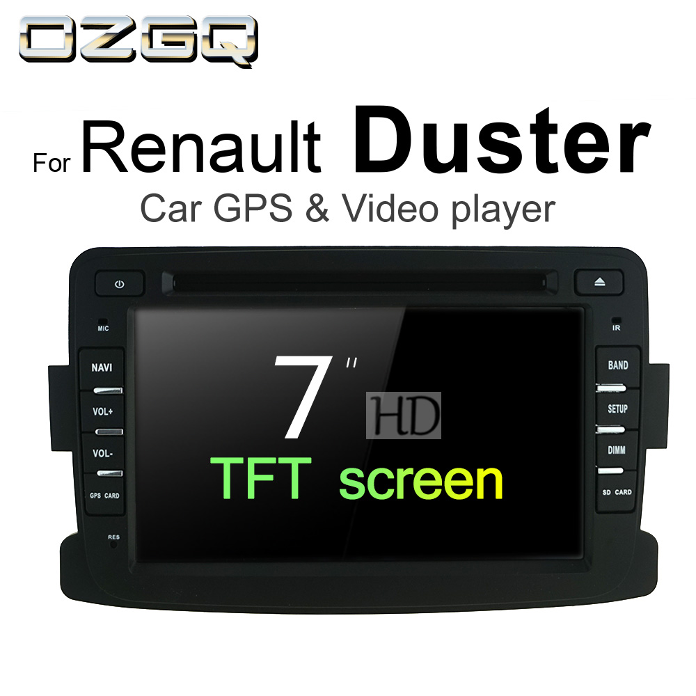 OZGQ Android 7.1 Car DVD Player For Renault Duster / Duster Oroch Auto GPS Navigation Bluetooth Radio TV Audio Video Stereo цена