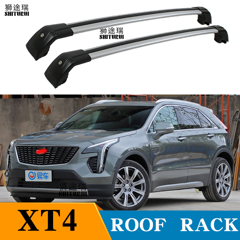 2Pcs Roof Bars For Cadillac XT4 5-dr SUV, 2010-2018 Aluminum Alloy Side Bars Cross Rails Roof Rack Luggage CUV SUV