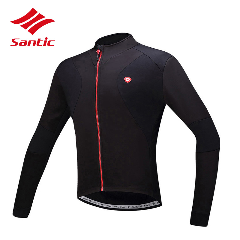 Santic Men Cycling Jersey Long Sleeve 2018 Bike Bicycle Jersey Wind Coat Tops Cycling Clothing Ropa De Ciclismo Hombre santic c01012b bicycle cycling long sleeves jersey for men blue black size xl
