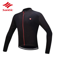 Santic Men Cycling Jersey Long Sleeve 2018 Bike Bicycle Jersey Wind Coat Tops Cycling Clothing Ropa De Ciclismo Hombre