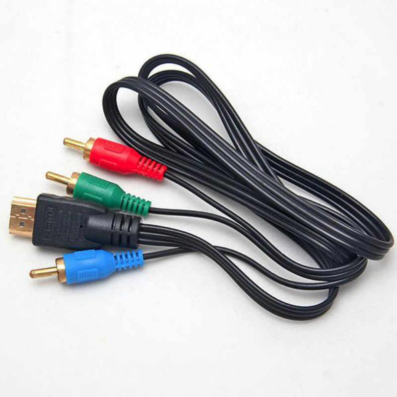 1 قطعة فيديو مكون تحويل كابل HDMI إلى 3RCA محول 3FT 3-RCA AV سلك مهايئ لترويج HDTV VGA 1 متر