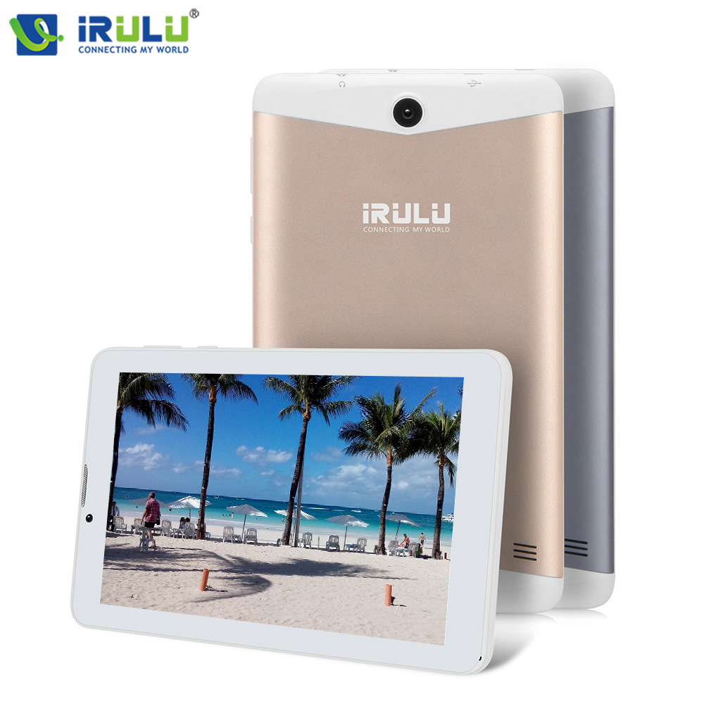 2 Colors iRULU X6 7'' Android 7.0 Tablet 3G Phablet Phone Call SIM Card Quad Core ROM 16GB Bluetooth WIFI Dual Cam Light Weight 10 inch android 7 0 tablet pc tab pad 2gb ram 32gb rom quad core play store bluetooth 3g phone call dual sim card 10 phablet