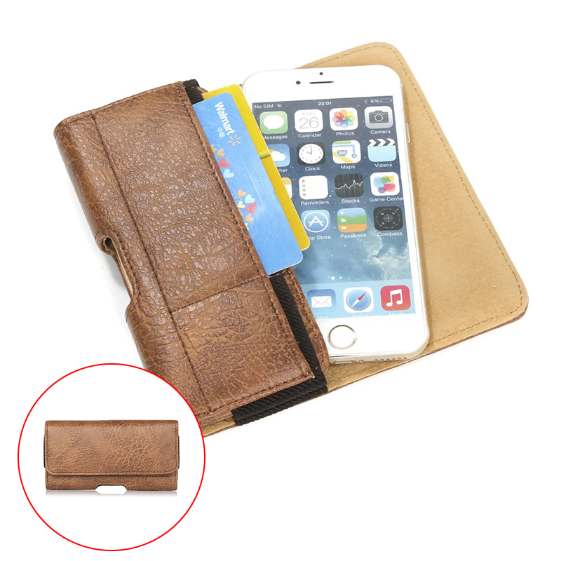 """Outdoor Stone Pattern Belt Pouch PU Leather Phone Cases For sony xperia m4 aqua e5 xa ultra Cover With Card slots Hook 4.7-6.3"""""""