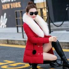 2016 зима новый моды тонкий Тонкий двубортный талии пуховик в пожилых женщин пальто куртки