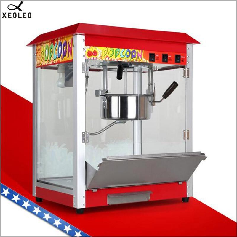 XEOLEO Electric Popcorn maker 8OZ commercial Popcorn machine Oil popped 1360W  Spherical Popcorn 220V/110V CE Toughened glass|Popcorn Makers| |  - title=