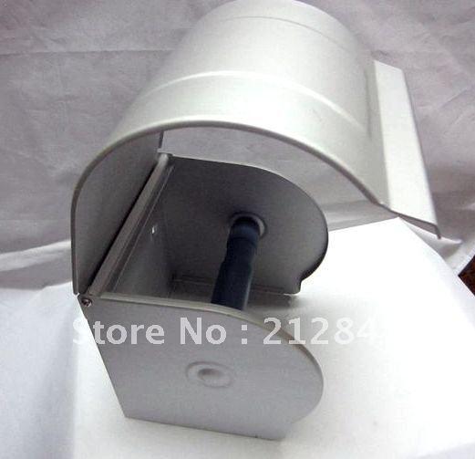 Серебряный тон алюминиевый прокрутки туалетной бумаги держатель для туалетной бумаги крышка