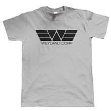 Weyland Corp T Shirt, Movie Inspired UFO Aliens Sci-Fi Gift for Him Dad Funny Tops Tee New  Unisex High Quality