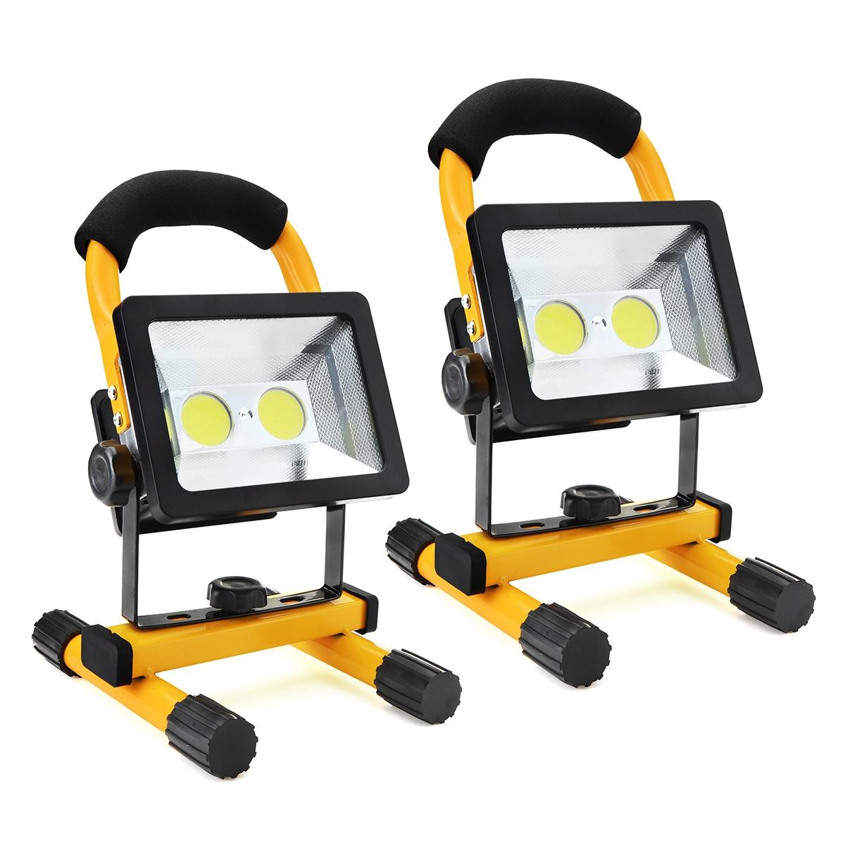 Mising 30 w Rechargeable LED Portable Lanterne Led Travail Lumière Adaptateur IP65 Étanche Lampe de Camping Projecteur UE US