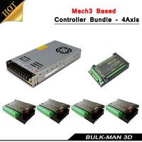 4 Axis Mach3 System Based Controller Bundle for openbuilds OX CNC Machine