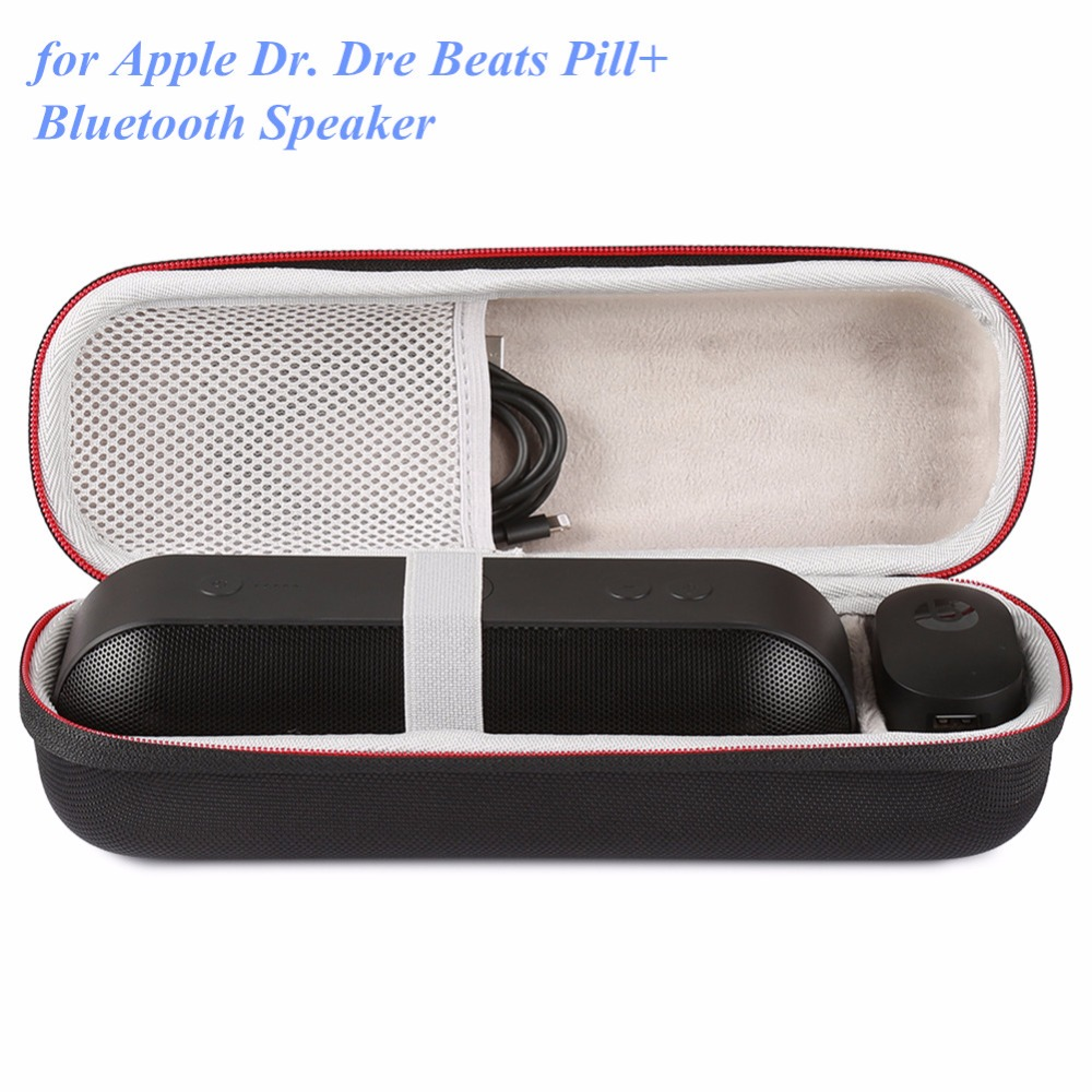 US $10 12 25% OFF|Travel Speaker Bag For Apple Dr  Dre Beats Pill Pill Plus  Hard Storage Travel Zipper Case Carry Bag-in Speaker Accessories from