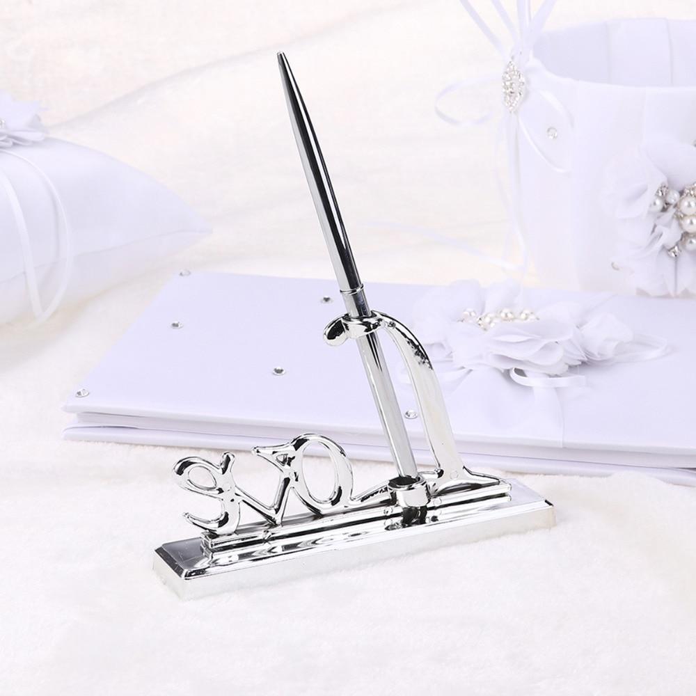 Bolígrafo de firma de boda con juego de bolígrafos plateados de - Para fiestas y celebraciones - foto 5