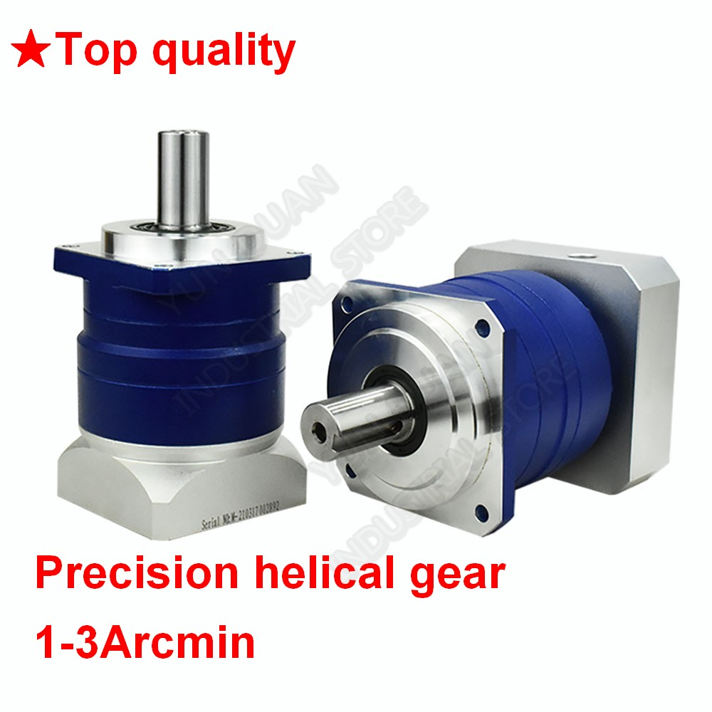 3 4 5 7 10:1 Helical Planetary 3Arcmin Gearbox Reducer 22mm Input for NEMA52 120mm 130mm 1KW - 3KW AC Servo Motor Robot CNC