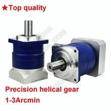 3 4 5 7 10:1 винтовой планетарный 3 Arcmin редуктор 22 мм вход для NEMA52 120 мм 130 мм 1KW-3KW AC Servo двигатель Робот с ЧПУ