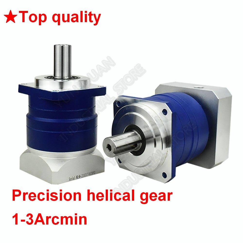 3 4 5 7 10:1 helicoidal planetario 3 Arcmin de la caja de cambios, reductor de 22mm de entrada para NEMA52 120mm 130mm 1KW-3KW AC Robot Servo Motor CNC