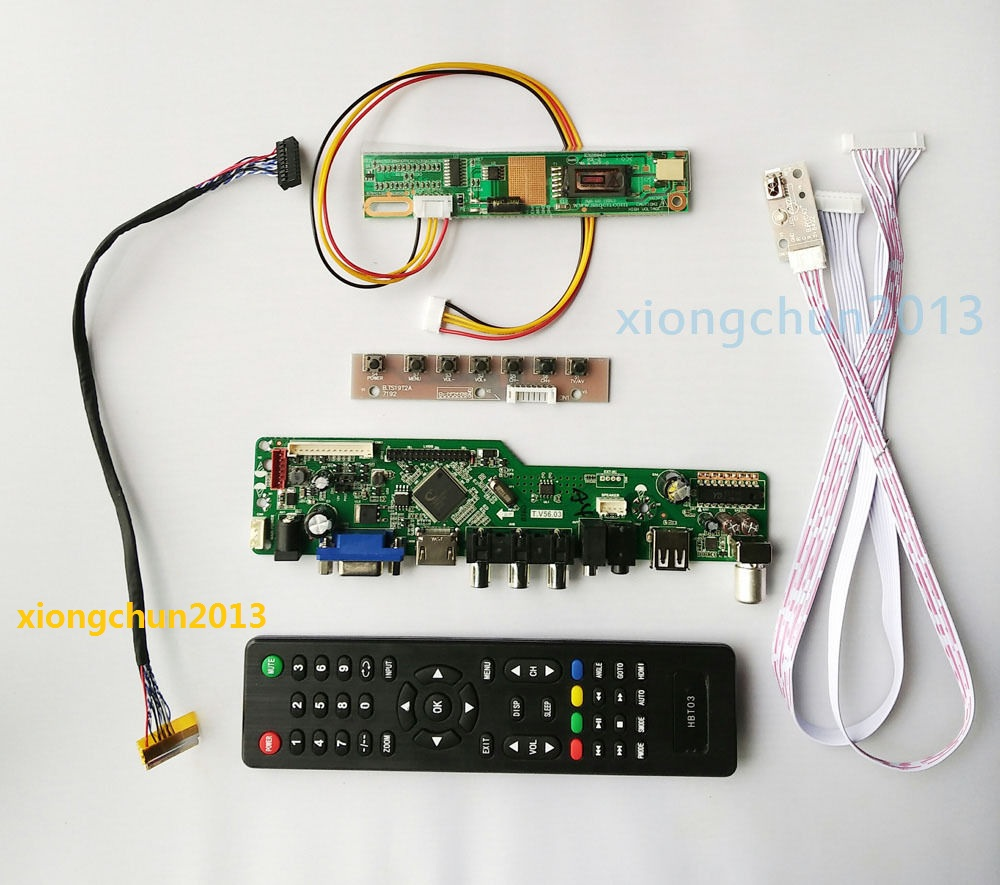 2019 Diy For LP156WH1 Driver Board 1 Lamps 15.6