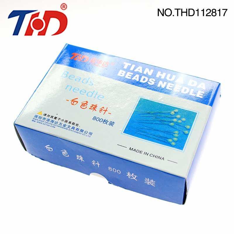THD 750 ชิ้นลูกปัดเข็มสายเกลียวเครื่องมือหมุดมาตรฐานสร้อยข้อมือแฮนด์เมดหมุดผู้หญิงเครื่องประดับ DTY อุปกรณ์เย็บผ้า