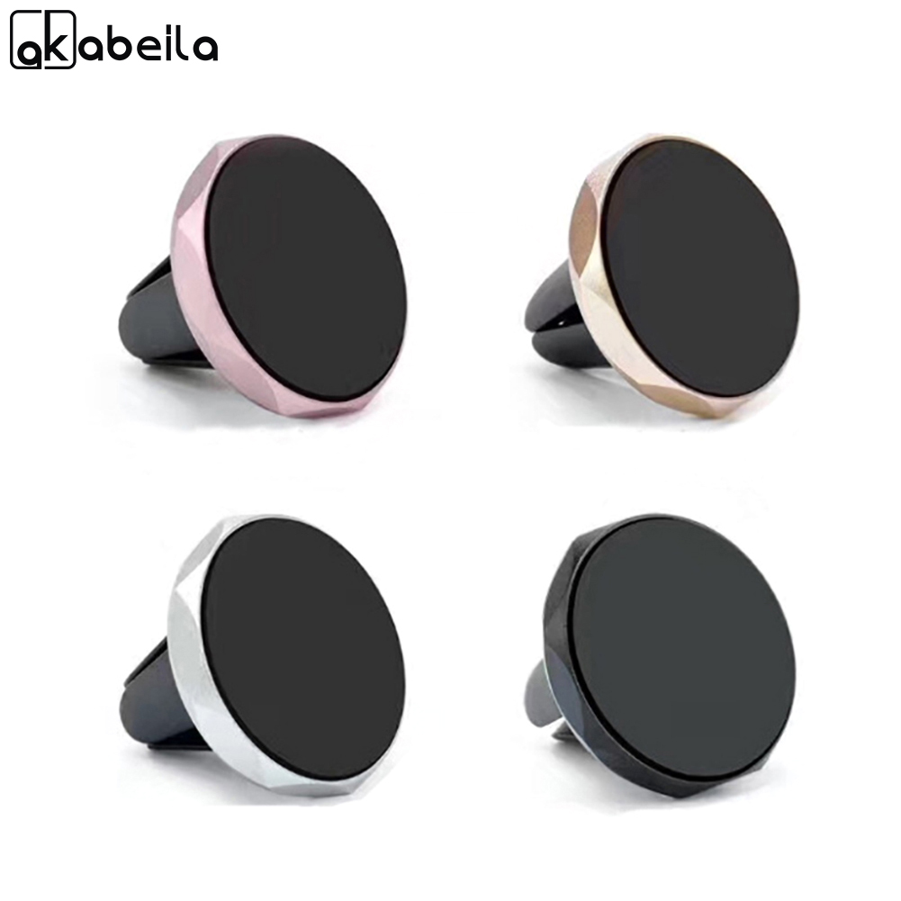 AKABEILA Magnetic Phone Car Holder Air Vent Car Mount Magnet Universial Mobile Phone Smartphone Mini Stand Support GPS Mount