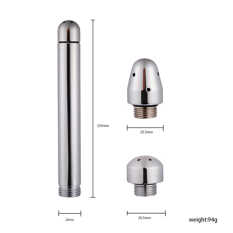 Bidet Faucets Rushed Anal Douche Shower Cleaning Enemator With 3 Styles Head Plug Enema Metal Anal Cleaner Butt Plugs Tap in Anal Sex Toys from Beauty Health