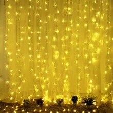 6 м(Ш)* 3 м(в) 608led сосулька занавеска гирлянда Сказочный светильник Рождество Свадьба Сад вечерние гирлянды Декор на окно и стены-3 цвета optio