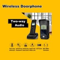 Kablosuz Ses Kapı Telefon Kiti Interkom Sistemi Şifre Kilidini Fonksiyonu Kapı Interkom Iki yönlü Konuşma Kapı Zili Ahize