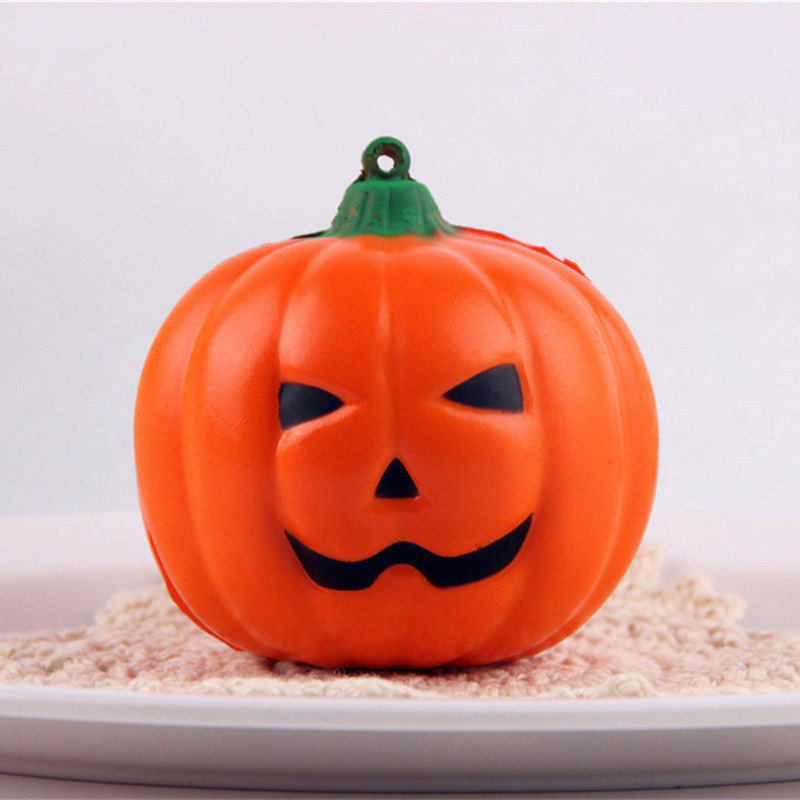 Halloween Soft Pumpkin Cartoon Squishy Slow Rising Squeeze Toy Phone Straps For Child Adult Attention Office Antistress Novelty Mobile Phone Straps