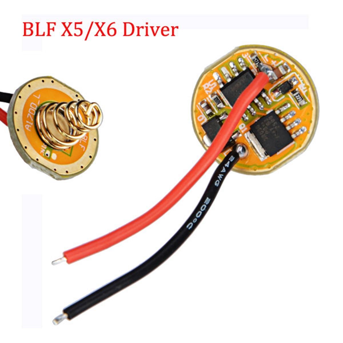 Pour BLF X6 X5 S2 S3 SS SC Pilote Lampe De Poche ATTiny25V-based et FET + 7135 2.8-4.35 v