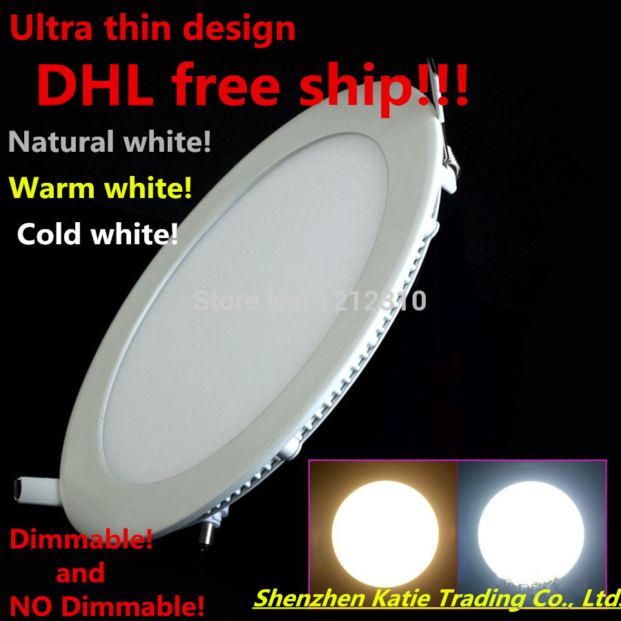 20 unids Ultra Brillante 3W 6W 9W 12W 15W 25W Led empotrado en el techo Downlight redondo / cuadrado Panel light 1800Lm Led Panel bombilla lámpara de luz