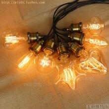 G95 ST64 лампада Ретро лампа Эдисона лампочка светильник Bombilla винтажные ампулы декоративные лампы накаливания канделябр G80 D80