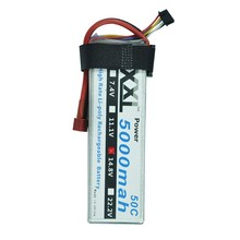 XXL 4s 14.8V 5000mAh 50C Helicopter Battery Max 100C RC Lipo For DJI Drone FPV Multicopter Airplane Quadcopter