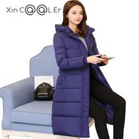 714 Ultra Long Down Coat Winter Slim Over The Knee Female Ultra Long Thickening Plus Size